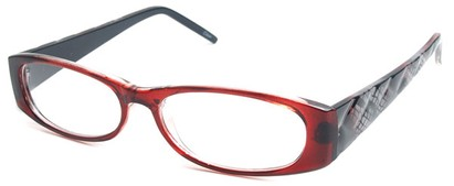 Angle of The Brianna in Red and Black Frame, Women's and Men's