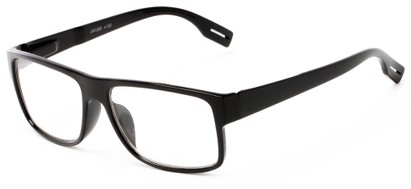 Angle of The Colby in Black, Women's and Men's Retro Square Reading Glasses