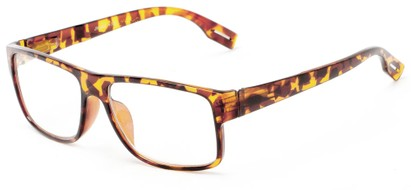 Angle of The Colby in Tortoise, Women's and Men's Retro Square Reading Glasses