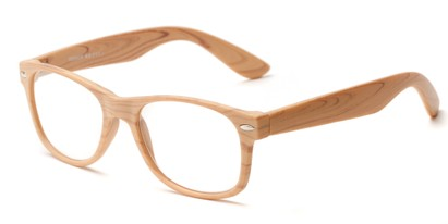 Angle of The Journey in Tan, Women's and Men's Retro Square Reading Glasses