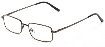 Angle of The Edwin in Gunmetal, Women's and Men's Rectangle Reading Glasses