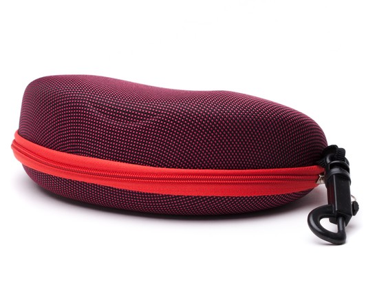Angle of Large Zippered Case  in Red, Women's and Men's  Hard Cases