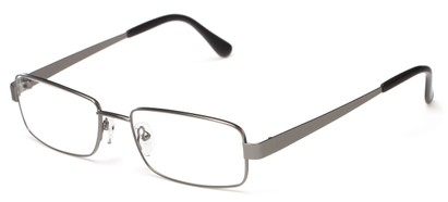 Angle of Lewis by felix + iris in Gunmetal Grey, Men's Rectangle Reading Glasses