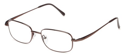 Angle of The Lexington Customizable Reader in Brown, Women's and Men's Rectangle Reading Glasses
