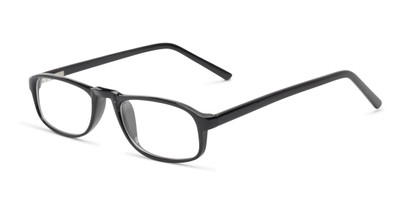 Angle of The Look Customizable Reader in Black, Women's and Men's Oval Reading Glasses