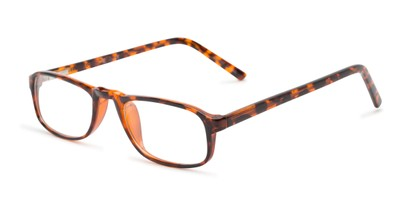 Angle of The Look Customizable Reader in Tortoise, Women's and Men's Oval Reading Glasses