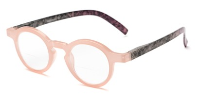 Angle of The Love Bifocal in Pink/Purple, Women's Round Reading Glasses