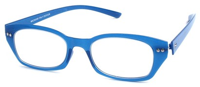 Angle of The Dublin Flexible Reader in Blue, Women's and Men's Square Reading Glasses