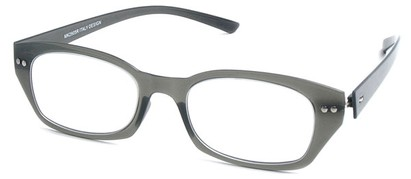Angle of The Dublin Flexible Reader in Grey, Women's and Men's Square Reading Glasses
