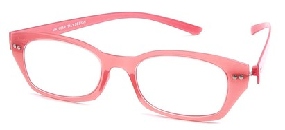 Angle of The Dublin Flexible Reader in Pink, Women's and Men's Square Reading Glasses