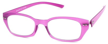 Angle of The Dublin Flexible Reader in Purple, Women's and Men's Square Reading Glasses