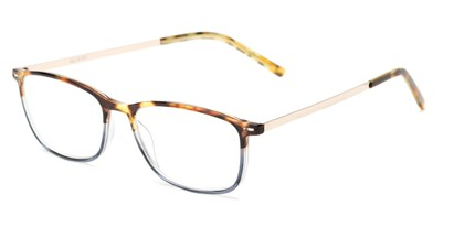 Angle of The Leah in Tortoise/Blue, Women's Retro Square Reading Glasses