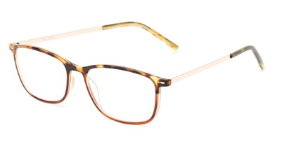 Angle of The Leah in Tortoise/Brown, Women's Retro Square Reading Glasses