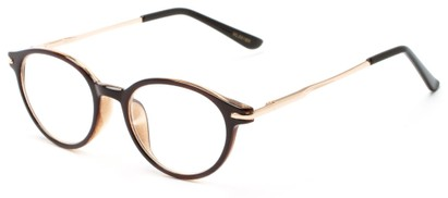 Angle of The Dorian in Brown, Women's and Men's Round Reading Glasses