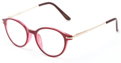Angle of The Dorian in Red, Women's and Men's Round Reading Glasses