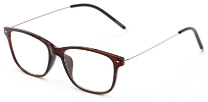 Angle of The Bodie in Brown, Women's and Men's Retro Square Reading Glasses