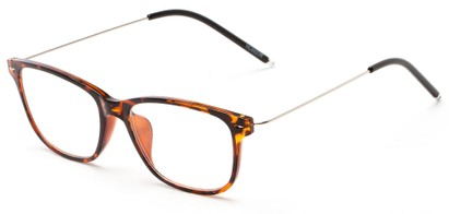 Angle of The Bodie in Tortoise, Women's and Men's Retro Square Reading Glasses