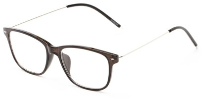 Angle of The Bodie in Grey, Women's and Men's Retro Square Reading Glasses