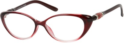 Angle of The Marissa in Red Fade, Women's and Men's