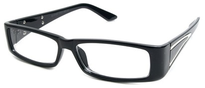 Angle of The Brooklyn in Black Frame, Women's Rectangle Reading Glasses