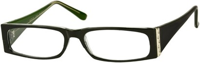 Angle of The Sharon in Black/Green Frame, Women's and Men's