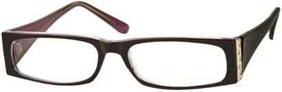 Angle of The Sharon in Black/Purple Frame, Women's and Men's