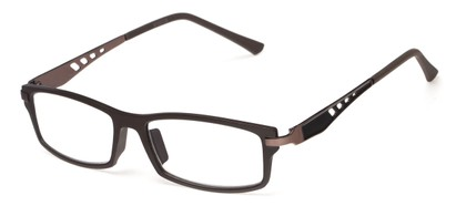 Angle of The Ralston in Brown/Bronze, Women's and Men's Rectangle Reading Glasses