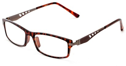 Angle of The Ralston in Tortoise/Grey, Women's and Men's Rectangle Reading Glasses