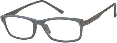 Angle of The Wall Street in Grey, Women's and Men's Rectangle Reading Glasses