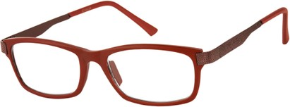 Angle of The Wall Street in Red, Women's and Men's Rectangle Reading Glasses