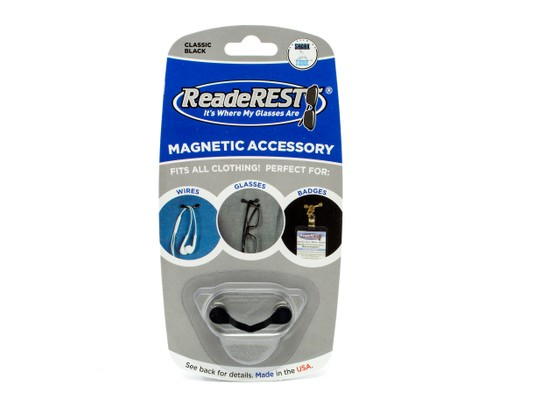 Angle of ReadeRest in Black, Women's and Men's  Visor Clips
