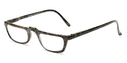 Angle of The Milton in Brown Speckled, Women's and Men's Rectangle Reading Glasses