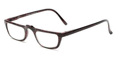 Angle of The Milton in Red Speckled, Women's and Men's Rectangle Reading Glasses