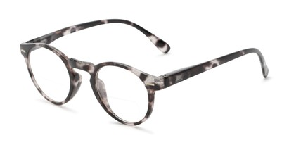 Angle of The Minnie Bifocal in Black Glitter, Women's Round Reading Glasses