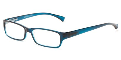 Angle of The Mitchell in Blue, Women's and Men's Rectangle Reading Glasses