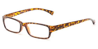 Angle of The Mitchell in Brown Tortoise, Women's and Men's Rectangle Reading Glasses
