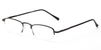 Angle of The Murphy in Black, Women's and Men's Oval Reading Glasses