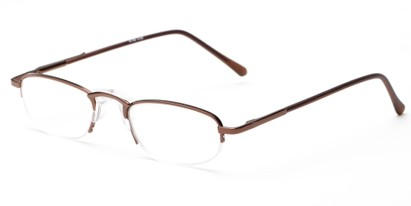 Angle of The Murphy in Bronze, Women's and Men's Oval Reading Glasses