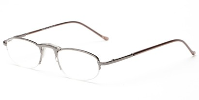 Angle of The Murphy in Grey, Women's and Men's Oval Reading Glasses