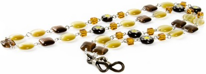 Angle of Wildflower Reading Glasses Chain in Yellow, Women's and Men's