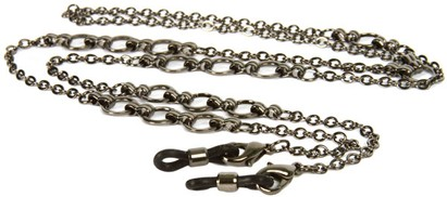 Angle of Bridgeport Reading Glasses Chain in Grey, Women's and Men's