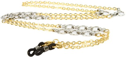 Angle of Bridgeport Reading Glasses Chain in Gold/Silver, Women's and Men's