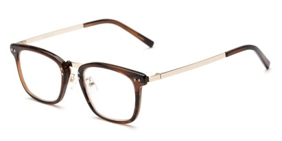 Angle of The Nottingham Signature Reader in Brown/Gold, Women's and Men's Square Reading Glasses
