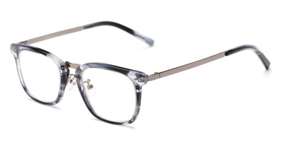 Angle of The Nottingham Signature Reader in Grey/Silver, Women's and Men's Square Reading Glasses