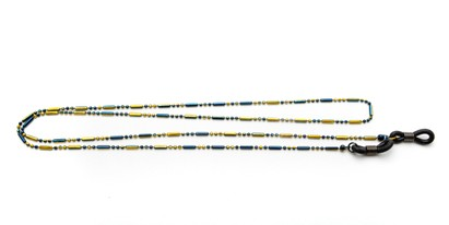 Angle of Orleans Reading Glasses Chain in Blue/Yellow, Women's  Neck Chains