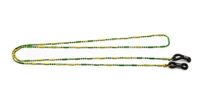 Angle of Orleans Reading Glasses Chain in Green/Yellow, Women's  Neck Chains