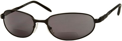 Angle of The Lewis Bifocal Reading Sunglasses in Black, Women's and Men's