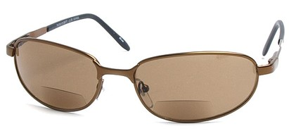 Angle of The Lewis Bifocal Reading Sunglasses in Bronze, Women's and Men's