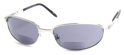 Angle of The Lewis Bifocal Reading Sunglasses in Silver, Women's and Men's
