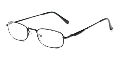 Angle of The Robert in Black, Women's and Men's Rectangle Reading Glasses